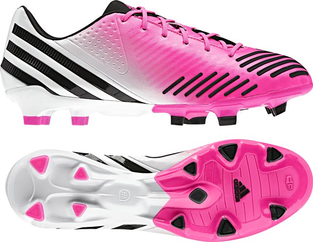 Adidas predator lz super pink black white.
